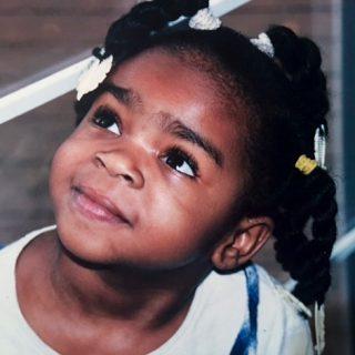 Jada as a young girl.