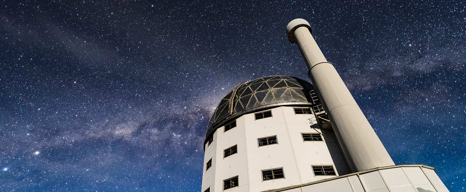 Telescope Dome in South Africa under a starry sky